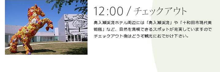 12:00|チェックアウト